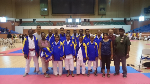 St Lucia participates in the 2018 IKD World Cup Karate Tournament in Barbados